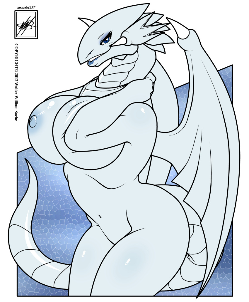 blue dragon white cartoon eyes Just shapes and beats lycanthropy